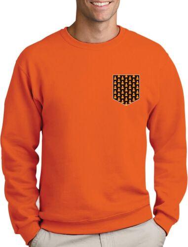Funny Halloween Candy Corn Pocket Print Sweatshirt Costume