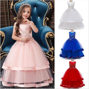 Prinzessin Lang Ballkleider Kinder Mädchen Hochzeitskleid ...