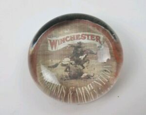 Vintage-Winchester-Rifle-Firearms-amp-Ammunition-Round-Office-Paperweight