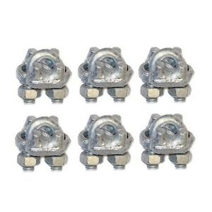 Mast Pole Guy Wire Clamps 1/8CCF Cable Rope Wire Clamps Antenna Mast ...