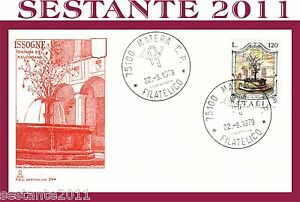 Italia Fdc Capitolium 394 Issogne Fontana Melograno 1979 Annullo Matera C187