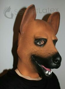 LATEX-PUPPY-HOOD-HEAVY-RUBBER-THICK-DOG-FULL-HEAD-PET-PLAY-CANINE-ZIP-MASK