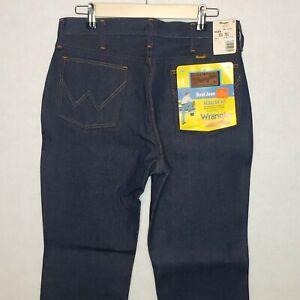 Vintage-Deadstock-Denim-Wrangler-Jeans-Bootcut-945DEN-1970-039-s-Sz33x31-Made-In-USA