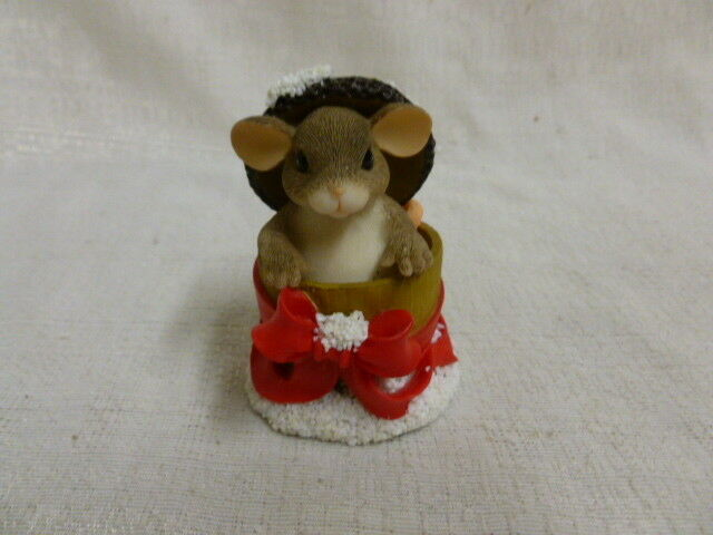 CHARMING TAILS BY DEAN GRIFF CHRISTMAS FIGURINE SILENT NIGHT MUSIC BOX
