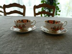 Chelson-China-Made-in-England-Antique-2-Tea-Cups-and-Saucers-8-3