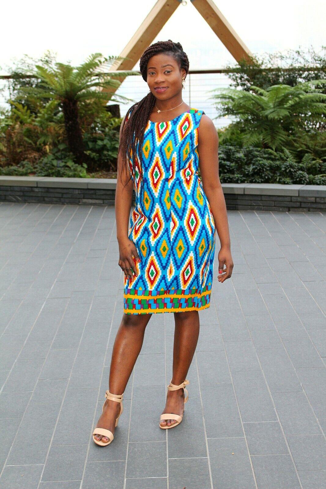 African Print Dress Size 10-12