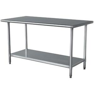 STAINLESS STEEL TABLE WORKING TABLE CM Ft Mtr EBay - 6 ft stainless steel table