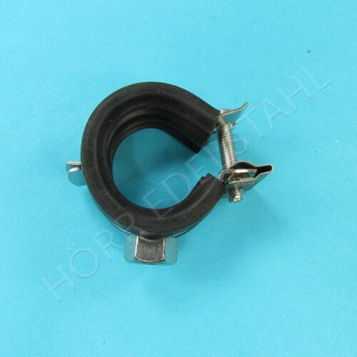 goma-depósito para tubería soporte abrazadera de plegable Abrazadera de tubo de acero inoxidable