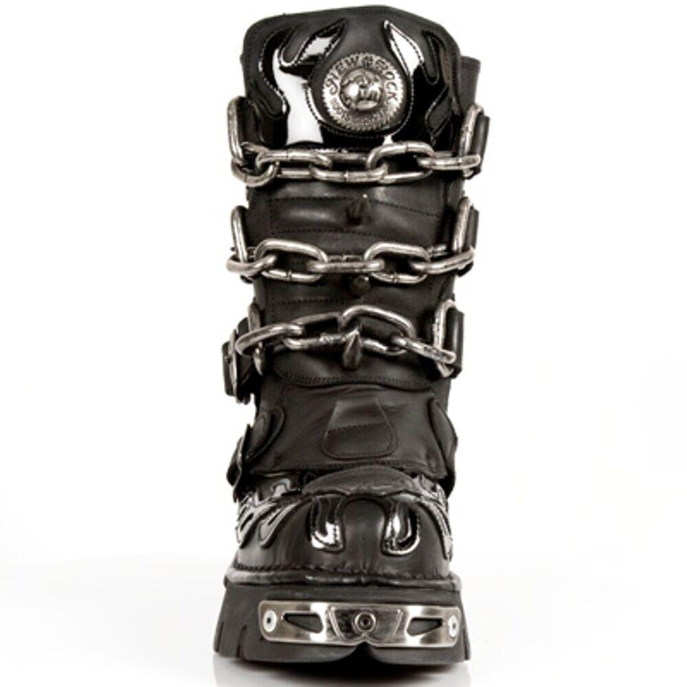 NEW Rock Stivali PUNK UNISEX PUNK Stivali GOTHIC stivali-style 727 s1 Nero 069464