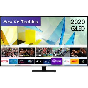Samsung QE65Q80TA Q80T 65 Inch Smart 4K Ultra HD QLED Freeview HD and Freesat