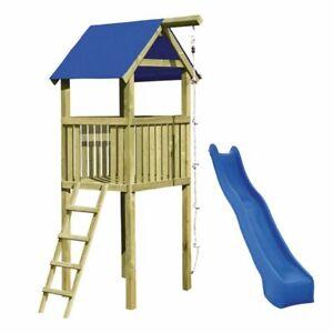 Spielturm Alto mit Rutsche und Kletterseil ca.118 x 118 x 350 cm Gartenpirat