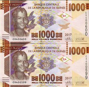 Guinea-2-1000-Francs-Guinea-2-1000-Francs-2017-2-Consecutive-UNC