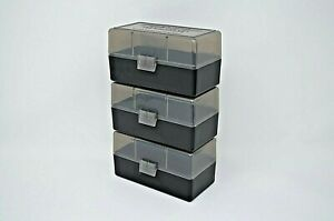 CLEAR-BLACK 100 ROUND 223 BERRY/'S PLASTIC AMMO BOXES 5.56 NEW ITEM 10