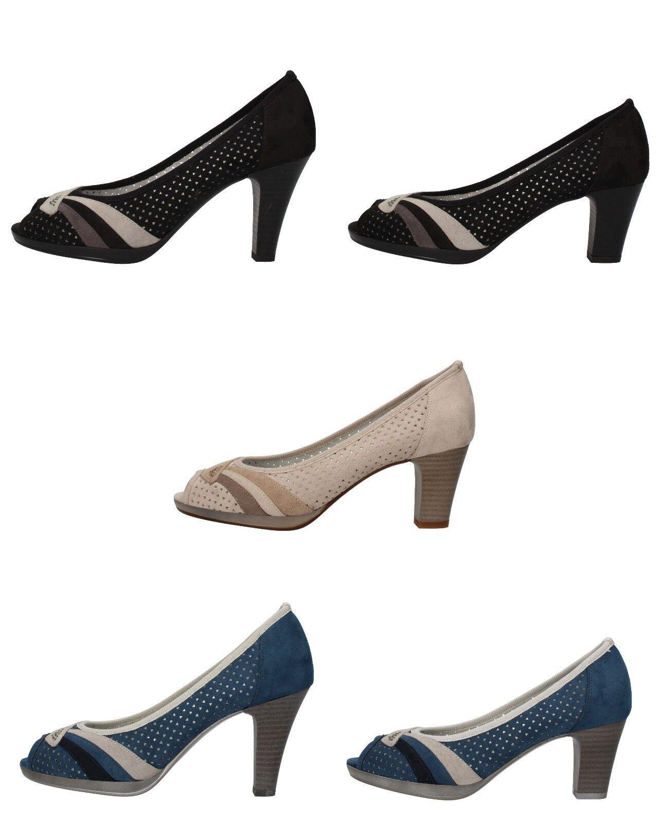 MARY COLLECTION scarpe donna decoltè blu nero beige camoscio