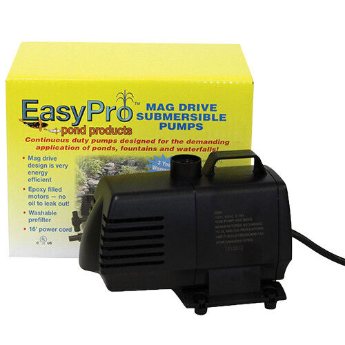 EasyPro EP850 Submersible Mag Drive Pond Pump 850 GPH