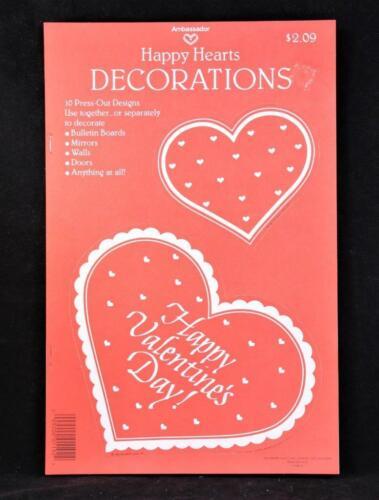 1983 Hallmark Happy Hearts Press-Out Decorations NEW