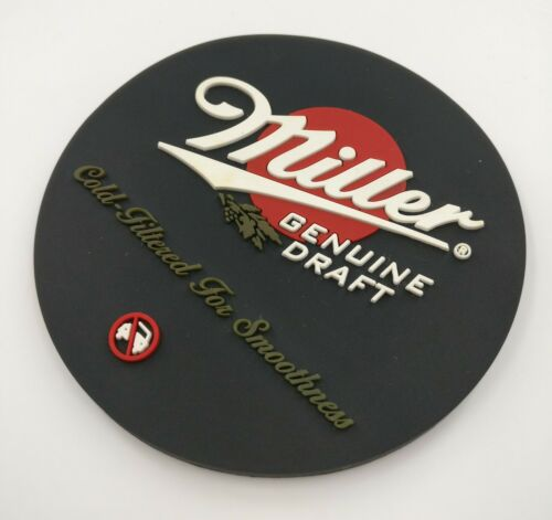 New Free Shipment Miller GENUINE DRAFT Rubber Beer Coasters Bar Coasters bar Mat