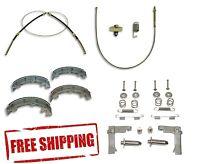 67-82 Corvette Brake Cable Brake Shoe Brake Hardware Kit Front Rear Emergency