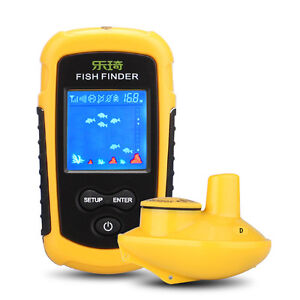 wireless fish finder sonar,fresh-salt water,colour screens.100m, Fish Finder