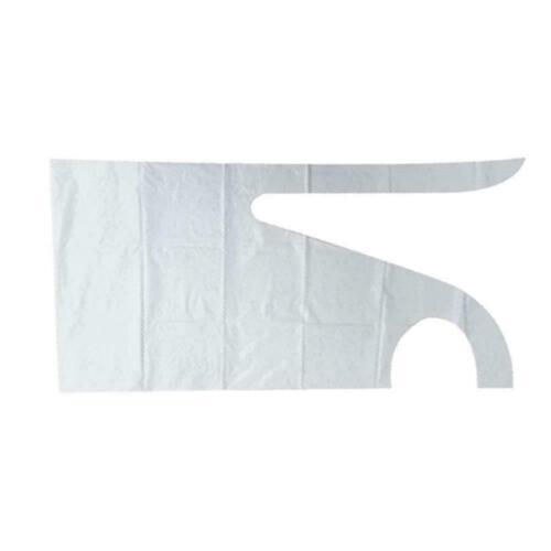 White Blue Flat Pack Plastic Aprons P5Y3