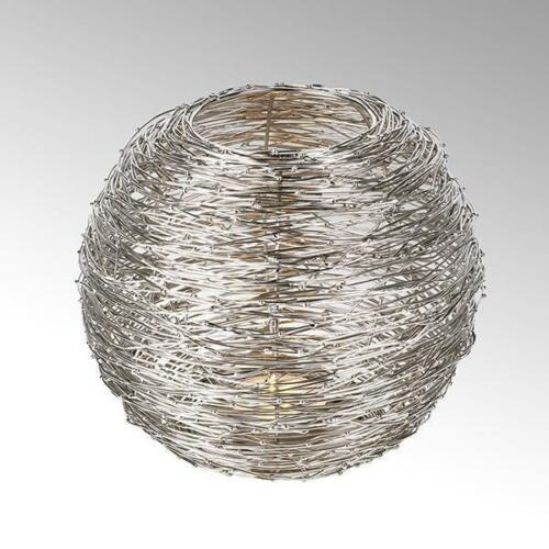 Lambert Covo Wind Light Iron Wire Round Large Nickel Plated h19 d24; for Candle 8std.