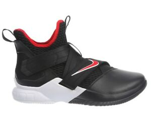299740ff3e73 Nike Lebron Soldier 12 Bred Mens AO2609-001 Black Red Basketball ...
