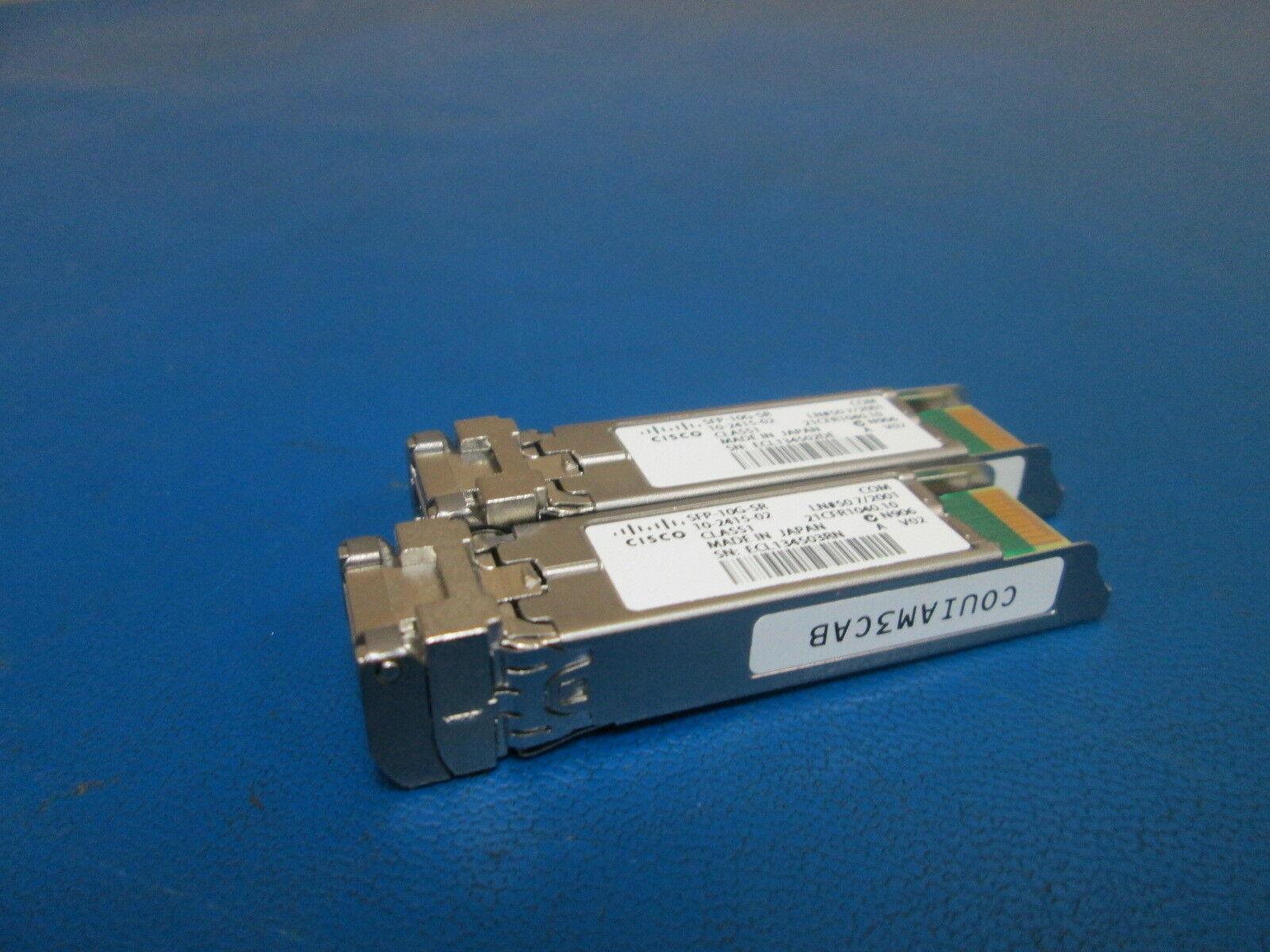 Lot of 2 CISCO SFP-10G-SR - SFP Module P N 10-2415-02