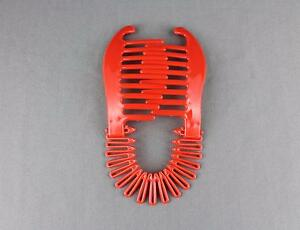 Image Is Loading Red Plastic Interlocking Banana Clip Hair Pony Tail