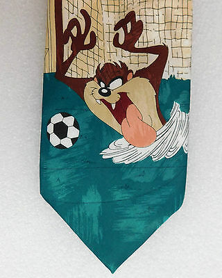 Taz tie Cartoon character Tasmanian Devil Football Goal keeper Novelty sport