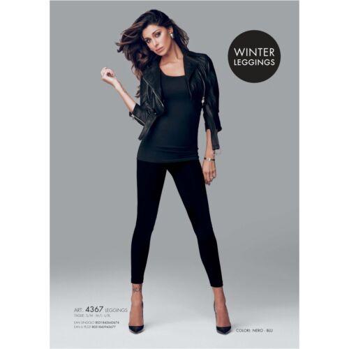 Leggings Fuseaux Donna Pantacollant Jadea Cotone Felpato S//M-M//L-L//XL Nero 4367