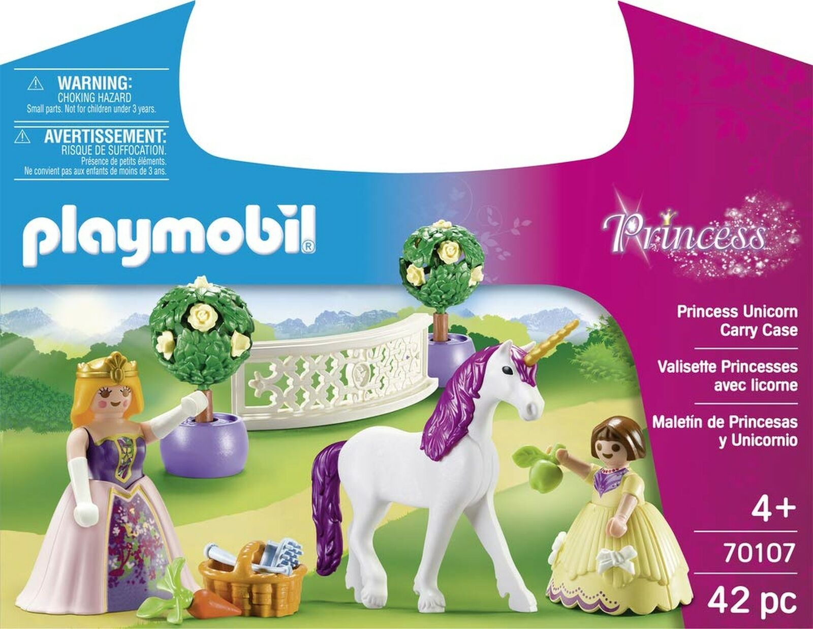 Playmobil 70107 70107 70107 Princess Unicorn Carry Case 2bc218