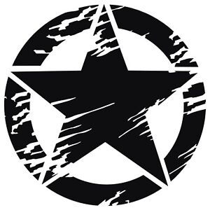 Distressed-USA-Army-Military-Star-Vinyl-Decal-Sticker-for-Jeep-Ford-Dodge-Truck