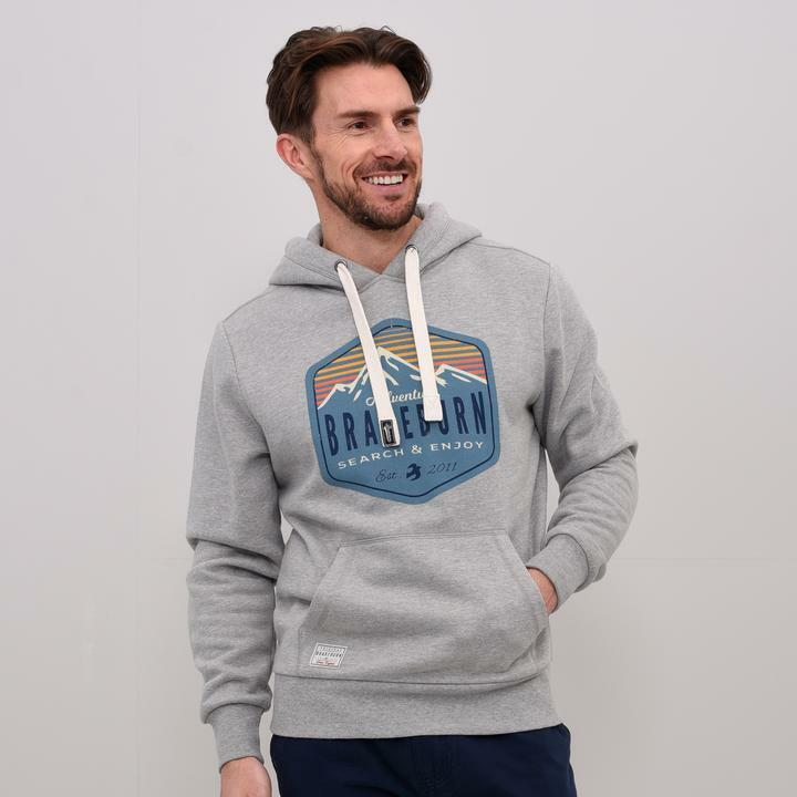 Brakeburn  Herren Search And Enjoy Hoody - SS18 - NEW