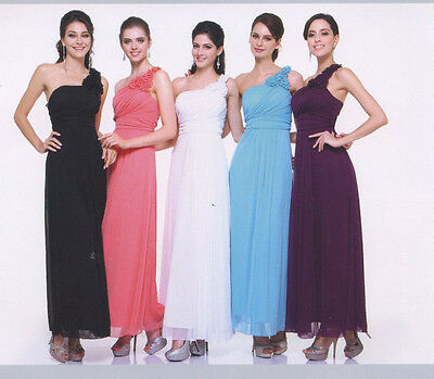 15 COLOR COCKTAIL PROM BRIDESMAIDS HOMECOMING LONG FORMAL DRESS BALL GOWN XS-3XL