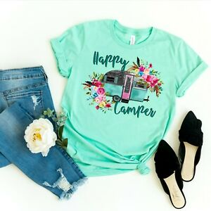 Happy-Camper-Funny-Hippy-Flower-Crew-Neck-Shirt-by-Saltee-Beaches-Apparel