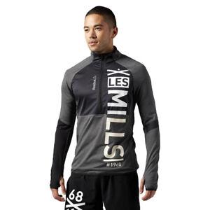 65ee3db50a3a Men s Training Track Jacket Reebok LM 1 2 ZIP Sports Les Mills ...