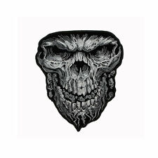 Biker Chopper Motorrad Giant Skull Totenkopf Schädel Aufbügler Aufnäher Patch