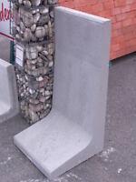 ehl st tzwinkel 205cm hoch mauerscheiben betonwand l. Black Bedroom Furniture Sets. Home Design Ideas