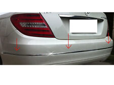 Mercedes W204 C Class Chrome Rear bumper trim set Saloon Sedan C200 C220 C350
