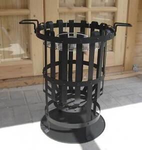 feuerkorb massiv feuerstelle rund mit grill terassen garten feuer korb 2 in 1 ebay. Black Bedroom Furniture Sets. Home Design Ideas