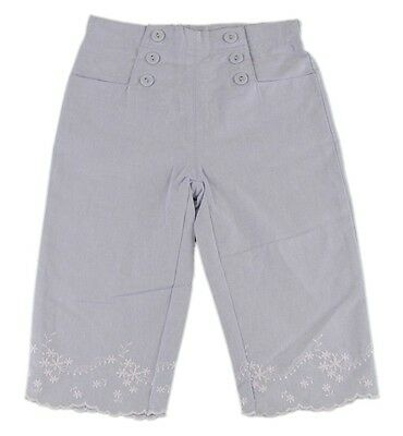 JACADI Girl/'s Leopard Lavender// Sky Cropped Checked Pants Size 6 Years NWT $36