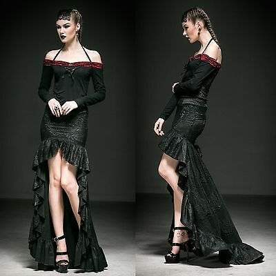 PUNK RAVE Ace Of Grace Rock Gothic Skirt EDEL ROMANTIC VICTORIAN GOWN PROM