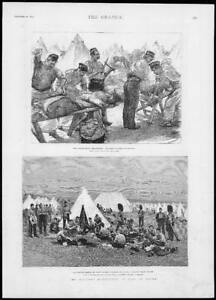 1893-Antique-Print-MILITARY-Manoeuvres-BERKSHIRE-Churn-Camp-Butchers-173