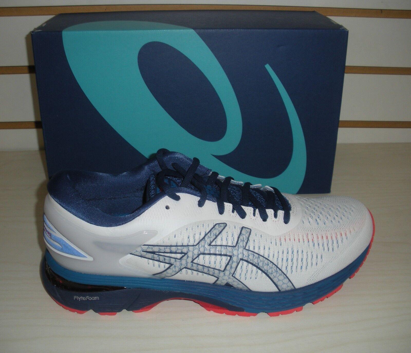 ASICS para hombre GEL-KAYANO 25-Zapatos tenis de correr - 1011A019-100 - blancoo Azul impresión