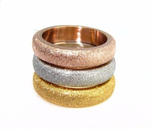 Glitzer Wände Farben Kollektion Erkunden Bei Ebay: Edelstahl Schmuck Ringe Ketten Sets In Rose Gold Silber