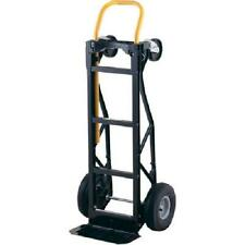 700lbs Nylon Dolly Cart 2 Pneumatic Wheels 3 Posi Handle Hand Truck Heavy Duty