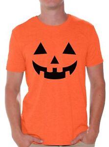 acc72e1caba77 Men's Jack O' Halloween Pumpkin T shirts Shirts Tops Pumpkin Tee | eBay