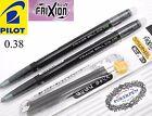 Pilot frixion ball 2 pen+3 refills 0.38mm SLIM erasable rollerball pen Black INK