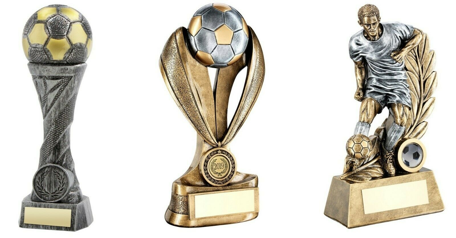 3 x 10 inch Football Trophy Awards engraved post free (RRP .48)