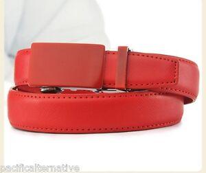c6f8a18bc4f0 Ceinture rouge Taille 50 pour FEMME fille belt red woman automatique ...